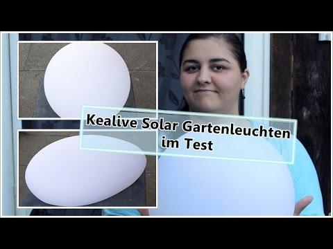 kealive led solar gartenleuchten kugel und kieselstein susi und kay projekte youtube. Black Bedroom Furniture Sets. Home Design Ideas