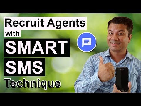 Recruit Agents With Smart SMS technique