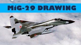 Рисунок МиГ-29 (MiG-29 drawing)