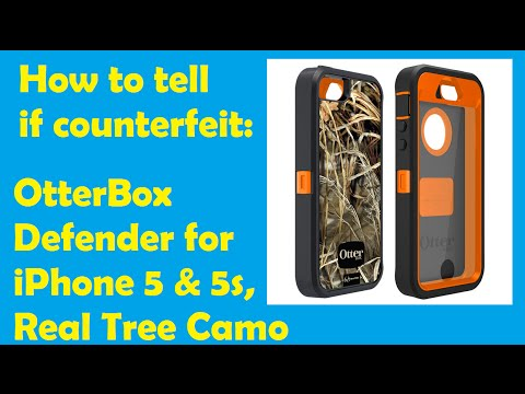 How to tell if counterfeit: OtterBox Defender for iPhone 5 & 5s, Real Tree Camo