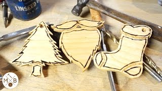 How To Make Wooden Christmas Ornaments Modern Builds EP. 17