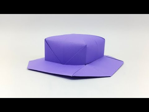 How To Make a Paper Hat - DIY Origami Cap Making Simple & Easy Tutorial Step By Step Folds
