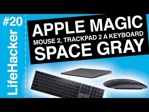 Apple Magic Mouse 2, Trackpad 2 a Keyboard Space Gray (záznam)