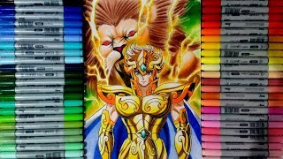 Speed Drawing Aiolia Lion (saint seiya) Desenhando Aiolia de Leão (os cavaleiros do zodiaco)