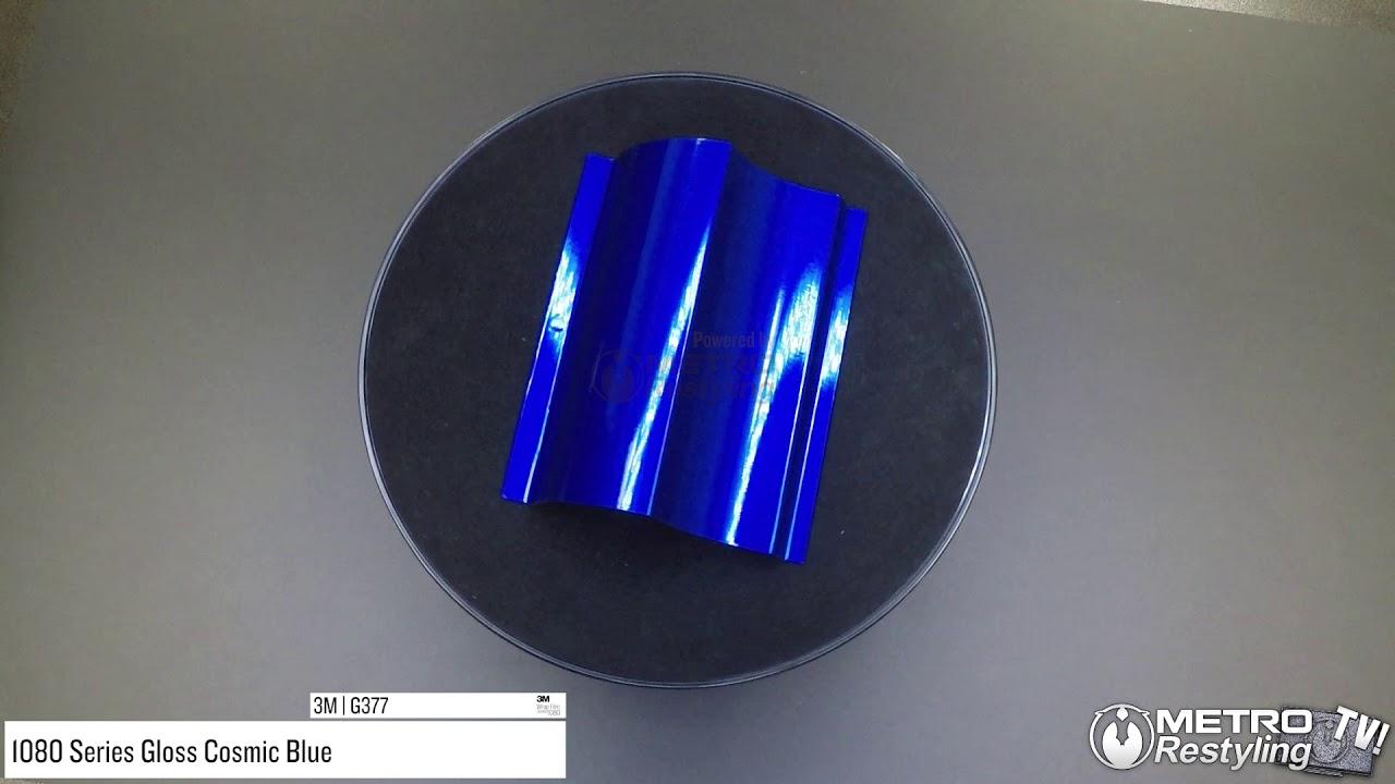 3M 1080 Gloss Cosmic Blue Air-Release Vinyl Wrap Roll 1//2ft x 5ft
