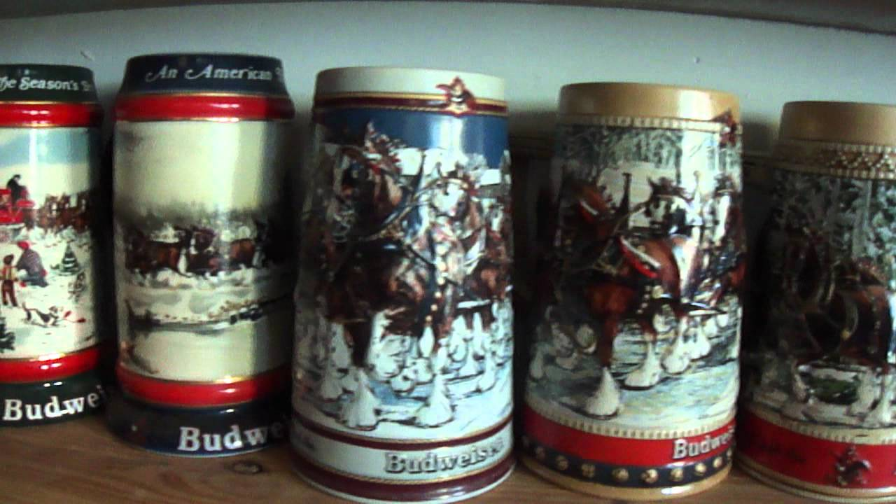 Budweiser Holiday Steins Set for Sale On ebay.MP4 - YouTube