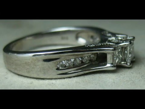 Zales IKS 14K White Gold DIAMOND Ring