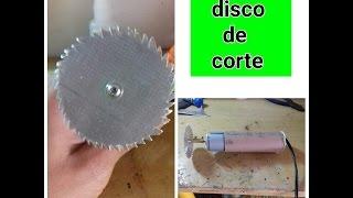 Como fazer disco de corte/micro retifica caseiro