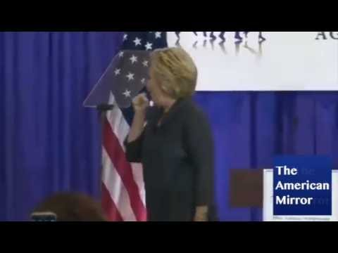 Hillary Clinton coughing spell after DC speech