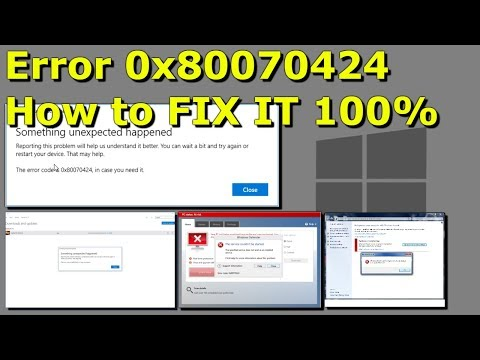 Windows Error 0x80070424 - How to FIX IT 100% in 2019