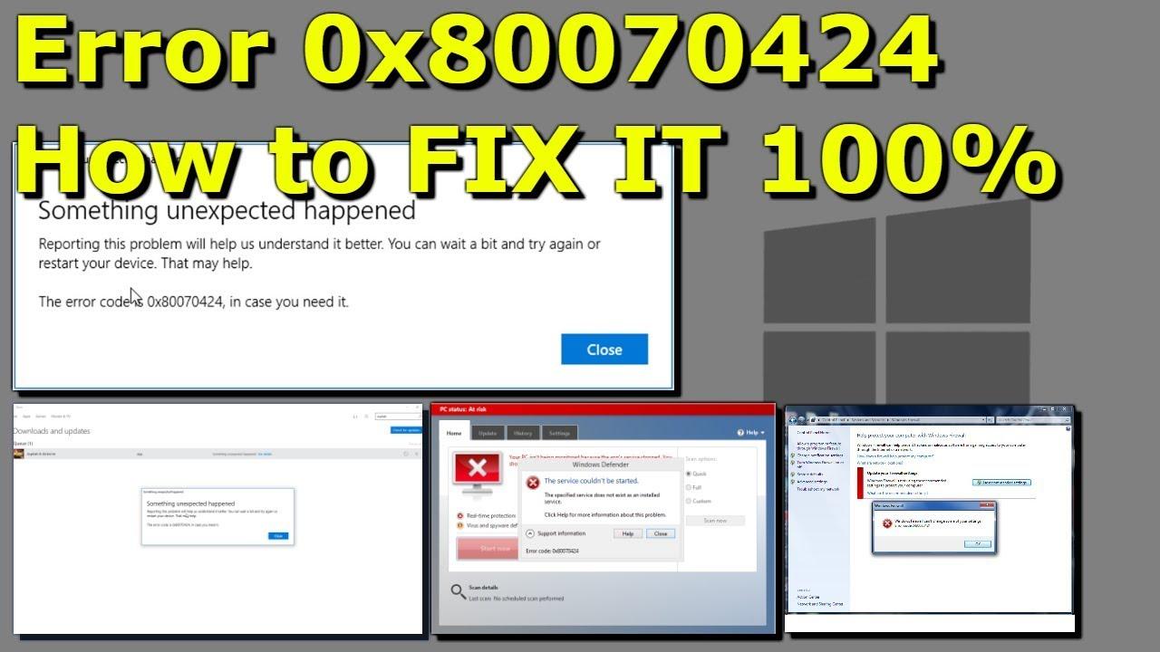 Windows Error 0x80070424 - How to FIX IT 100% in 2019 ...