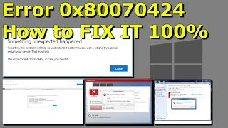 Windows Error 0x80070424 - How to FIX IT 100% in 2019 Complete Tutorial