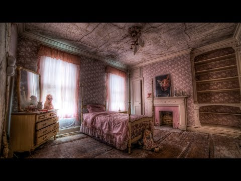 Abandoned Mansion w/ Little Girl's Pink Bedroom Stuck in Time