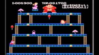 Classic NES Series: Donkey Kong Gameplay Movie 1 (Game Boy Advance)