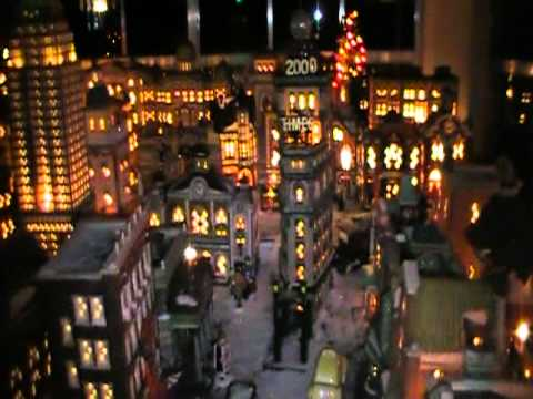 Fall In New York Wallpaper Deb S 2010 Dept 56 Christmas In The City At Night Youtube