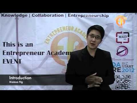 Entrepreneur Academy - Maresa Ng (Introduction)
