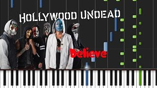 Hollywood Undead - Believe [Piano Cover Tutorial] (♫)