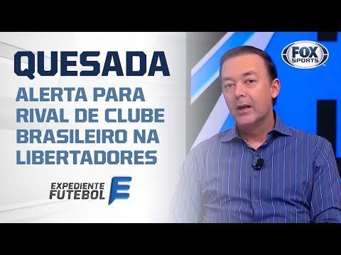 'BOTO ELE JUNTO COM RIVER E BOCA': Quesada alerta para rival de clube brasileiro na Libertadores