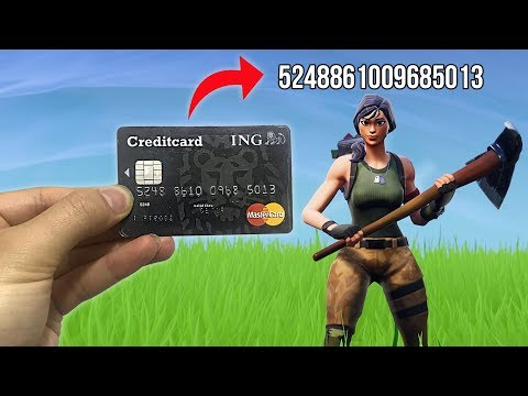 I put my Credit Card NUMBER in my Fortnite Name & Lost all My Money..