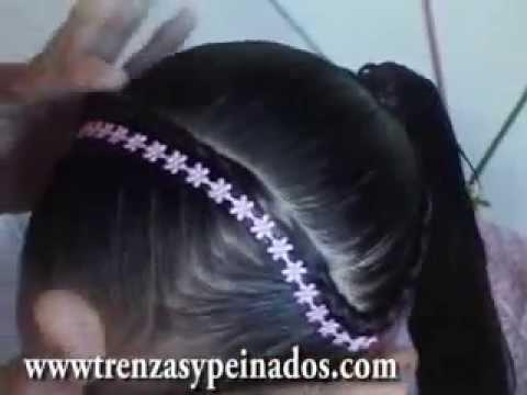 Peinado Para Ninas Curso 1 Trenza Postiza Youtube