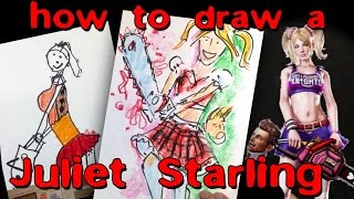 How to draw Juliet Starling from video games / Lollipop Chainsaw