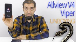 """Allview V4 Viper Unboxing (Telefon de buget cu cameră duală și display cu decupaj """"lacrimă"""")"""
