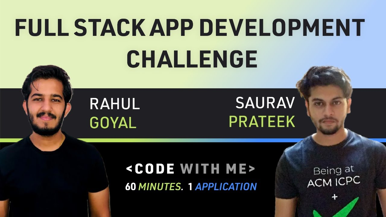 Develop a Full Stack Application within 60 Minutes