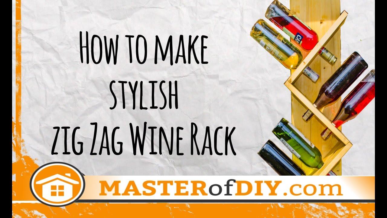 zig zag wine rack how to make diy do it yourself youtube. Black Bedroom Furniture Sets. Home Design Ideas