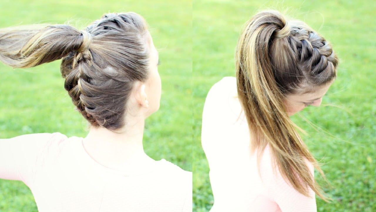 upside down french braid ponytail   braidsandstyles12
