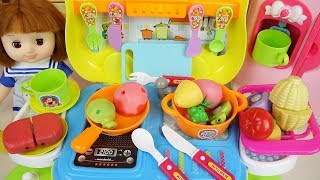 Baby doll food kitchen car cooking toys baby Doli play
