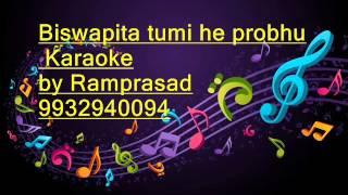 Biswapita tumi he probhu Karaoke by Ramprasad 9932940094