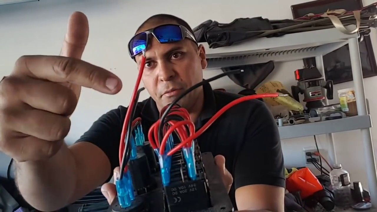 switch panel and boat wiring: wires, fuzes, leds, , (jon boat to bass boat)  #tbnation