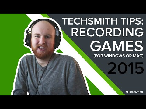 Recording Games and Editing Highlight Videos - TechSmith Tips