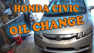 honda civic oil change