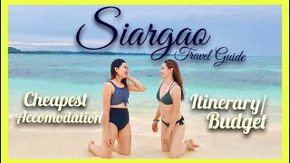 SIARGAO COMPLETE TRAVEL GUIDE! ( W/ BUDGET AND ITINERARY) | Siargao Vlog | Siargao Philippines |