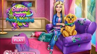 NEW Мультик онлайн для девочек—Барби гуляет с собакой—Видео для детей