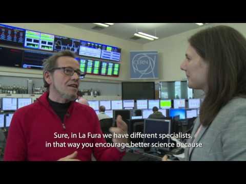 Pep Gatell visits CERN - La Fura dels Baus -