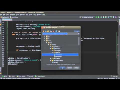 Python GUI Development with GTK+ 3 - Tutorial 16 - File Chooser Dialog