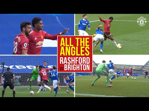 All the Angles | Marcus Rashford v Brighton & Hove Albion | Manchester United | Premier League