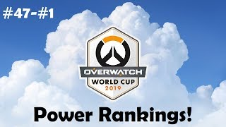 Overwatch World Cup 2019 Power Rankings (#47-#1)