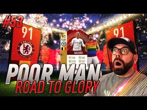 OMG I PACK 91 HAZARD IN MY MONTHLY FUT CHAMPIONS REWARDS - Poor Man RTG #53 - FIFA 18 Ultimate Team