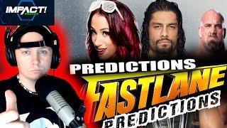 WWE Fastlane 2017 Predictions - PLUS - TNA IMPACT ! Big News