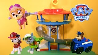 PAW PATROL Nickelodeon Paw Patrol Lookout A Paw Patrol Video Toy Review Video Unboxing