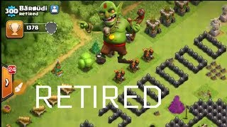 CLASH OF CLANS RETIRED HIM || RETIRED PLAYER OF CLASH OF CLANS ||OMG||COC (HINDI)