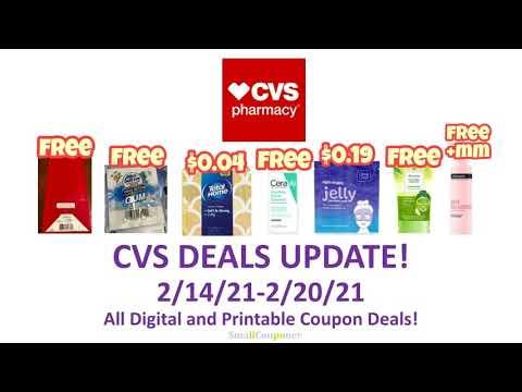 CVS Deals Update 2/14/21-2/20/21! All Digital and Printable Coupon Deals!