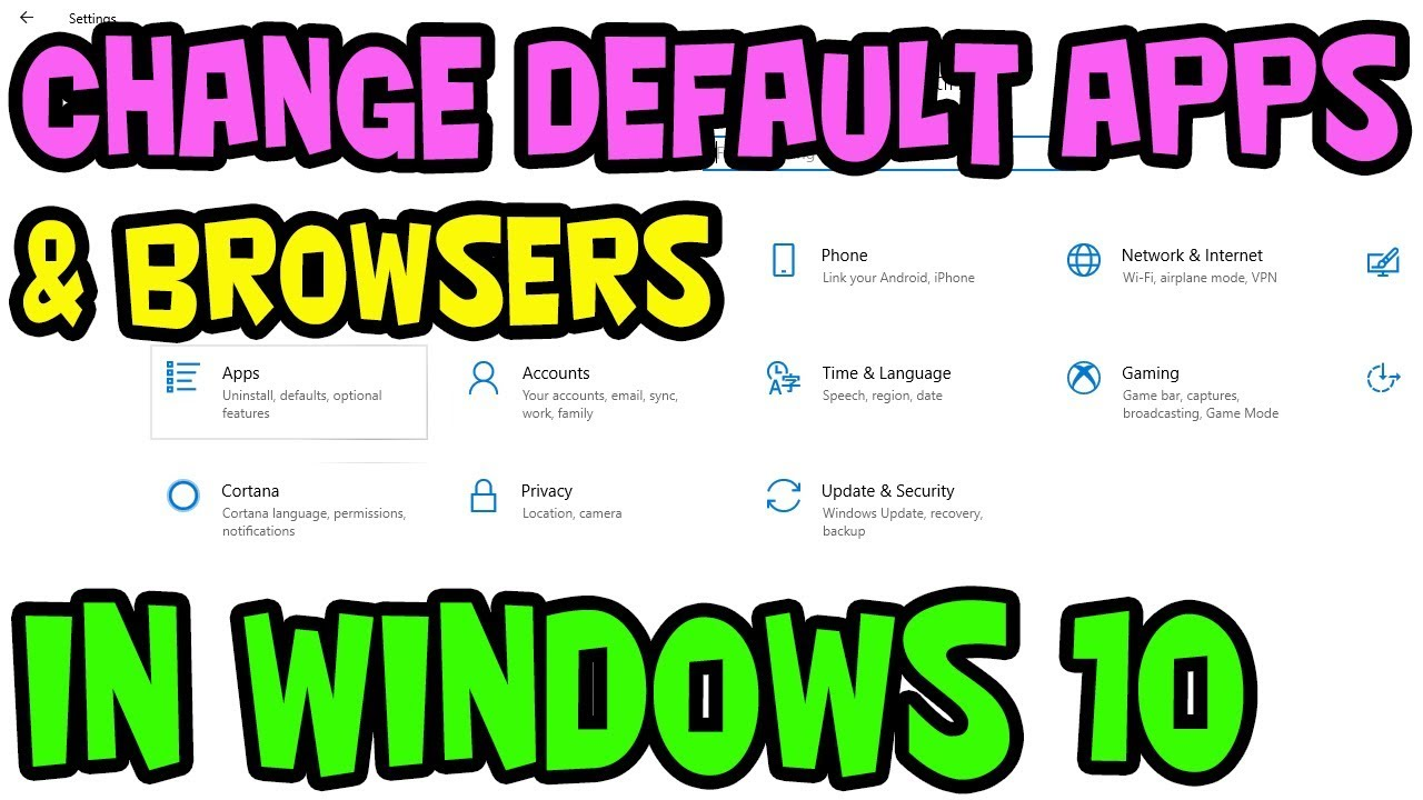 HOW TO CHANGE YOUR DEFAULT WEB BROWSER AND OTHER APPS IN WINDOWS 10  [TUTORIAL]