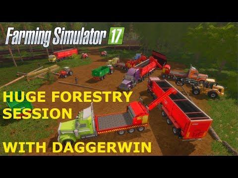 Farming Simulator 17 | Playing in Daggerwin's server | GreenRiver 2017 | Ep. 1 | Timelapse