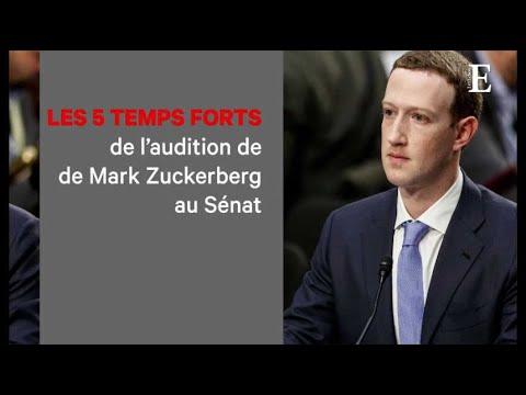 Les cinq temps forts de l'audition de Mark Zuckerberg au Sénat américain