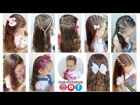 Penteados Fáceis com cabelo solto | Easy Hairstyles for Girls
