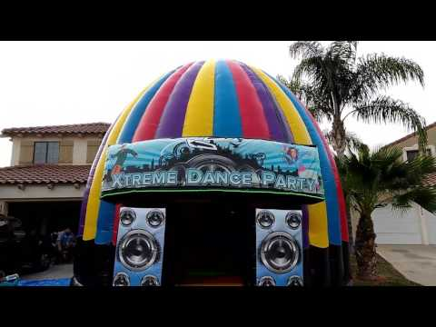 Disco Dance Dome! Xtreme Dance Party Jumpers for rent Riverside CA. Moreno Valley, Menifee, Murrieta